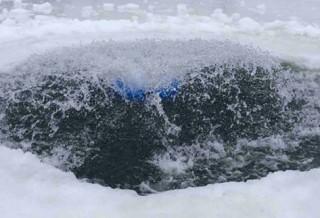 Компрессор для пруда зимой
