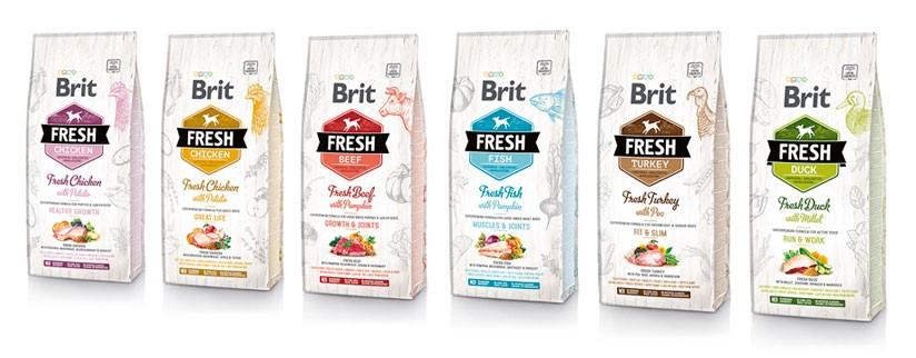 Новинка на сайте – корм для собак Brit Fresh
