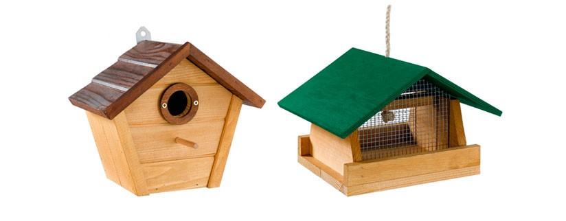Новые категории на сайте – домики и кормушки для диких птиц