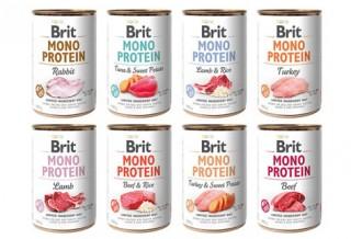 Обзор консерв для собак Brit mono Protein