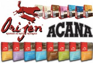 В продаже появились корма для кошек/собак Acana и Orijen