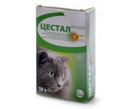 Антигельминтик для кошек Цестал Кет, 10 табл.