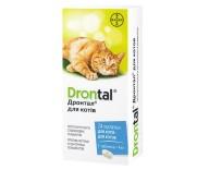 Антигельминтное средство для кошек Bayer Дронтал, 24 таблетки
