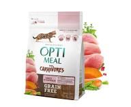 Беззерновой сухой корм для кошек Optimeal - индейка и овощи