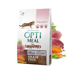 Беззерновой сухой корм для кошек Optimeal - утка и овощи