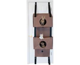 Домик на дверь для кошек KH Hangin Feline Funhouse желто-коричневый S