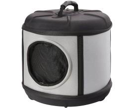 Домик-переноска для собак и кошек KH Mod Capsule серый/черный