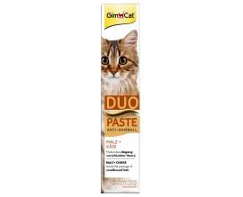 Лакомство для кошек GimCat Anti-Hairball Duo Paste Cheese + Malt 50 г (для выведения шерсти) (G-417240)