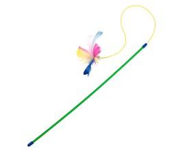 Игрушка для кошек Палочка с перьями на резинке (PR240443)