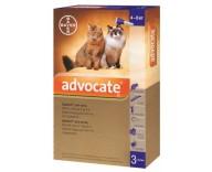 Капли от блох, клещей и глистов для кошек 4-8 кг Bayer Advocate, 3 пипетки