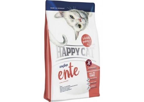 Корм для кошек с чувствительным пищеварением Happy Cat Sensitive Ente