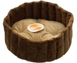 Лежак для собак и кошек KH Lazy Cup S кофейный