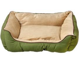 Лежак для собак и кошек KH Self-Warming Lounge Sleeper S зеленый/желто-коричневый