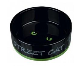 Миска керамическая для кошек Trixie Street Cat 0,3л/12см (24659)