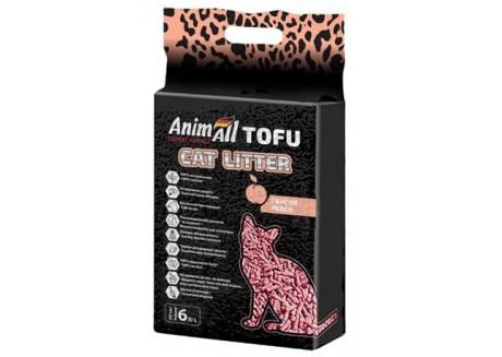 Наполнитель для кошачьего туалета AnimAll TOFU Персик 2,6 кг/6 литров (67002)