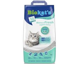 Наполнитель для туалета кошки Biokats Bianco Fresh