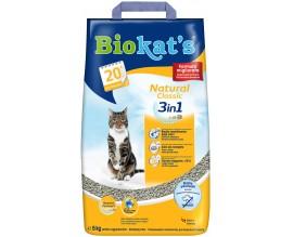 Наполнитель для туалета кошки Biokats Natural Classic 3in1