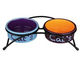 Подставка с мисками для котов Trixie Eat on Feet, 0,3 л/12 см (24791)