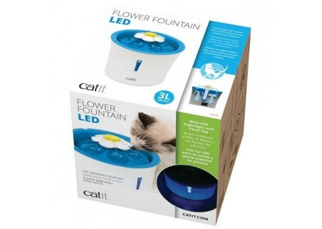 Поилка-фонтан для кошек Catit Flower Fountain с LED подсветкой 3 л (43747W)