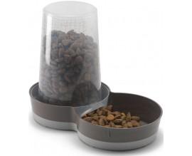Поилка-кормушка для кошек и собак Moderna Tasty WildLife коричневый