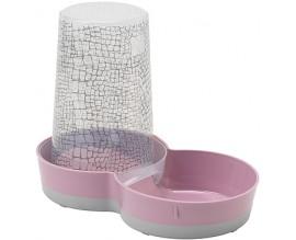 Поилка-кормушка для кошек и собак Moderna Tasty WildLife розовая, 1,5 л