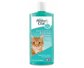Шампунь для кошек против линьки и волосяных комков 8in1, 295 мл