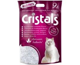 Силикагелевый наполнитель для туалета кошки Cristals Fresh с лавандой