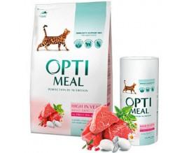 Сухой корм для кошек Optimeal - телятина