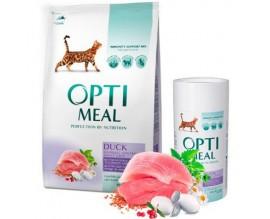 Сухой корм для кошек с эффектом выведения шерсти Optimeal - утка