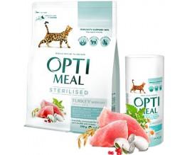Сухой корм для стерилизованных кошек Optimeal - индейка и овес