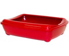 Туалет для кошек Moderna Arist-O-Tray с бортиком красный кирпич