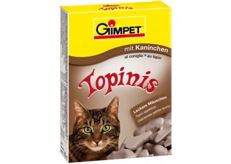 Витаминные мышки с таурином и кроликом для кошек Gimpet Topinis, 180 т/220 гр