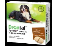 Антигельминтик для собак Bayer Дронтал Плюс XL (со вкусом мяса), 1 таблетка