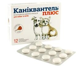 Антигельминтик для собак и кошек Каниквантель Плюс 1уп. (12 таблеток)