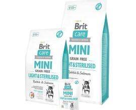 Brit  Care GF Mini Light and Sterilised (д/собак малых пород) контроль веса