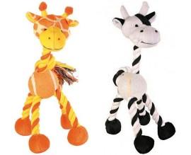Игрушка для собак Trixie из каната зебра, жираф (3578)