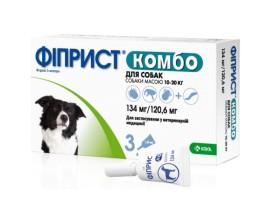 Капли от блох и клещей для собак 10-20 кг Фиприст Комбо, 3 пипетки