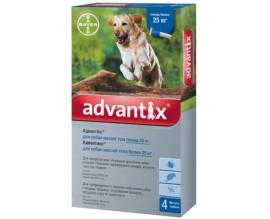 Капли от блох и клещей для собак более 25 кг Bayer Advantix, 4 пипетки