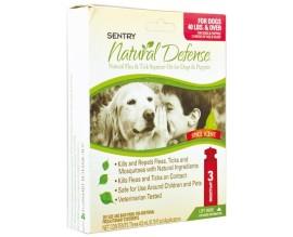 Капли от блох и клещей для собак и щенков Sentry Natural Defense от 18 кг, 1 пипетка