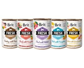 Консервы для собак Brit Fresh, 400 гр