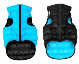Курточка двухсторонняя для собак AiryVest черно-голубая
