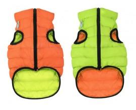 Курточка двухсторонняя для собак AiryVest оранжево-салатовая