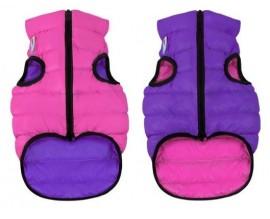 Курточка двухсторонняя для собак AiryVest розово-фиолетовая
