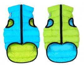 Курточка двухсторонняя для собак AiryVest салатово-голубая