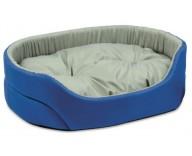 Лежак для кошек и собак Природа ОМЕГА, серо-синий