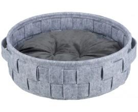 Лежак для собак и кошек Trixie Lennie плетеный серый