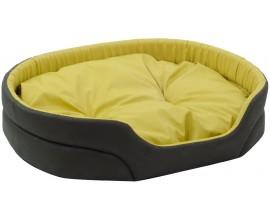 Лежак для собак Природа Омега хаки/желтый