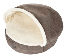 Лежак с капюшоном для собак и кошек Harley and Cho Cover Brown