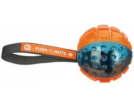 Мяч для собак Trixie Push to Mute Ball на веревке (33551)
