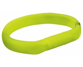 Ошейник силиконовый светящийся для собак Trixie с USB зеленый